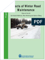Effects of Winter Road Maintenance