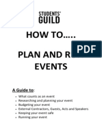 How to Plan and Run an Event
