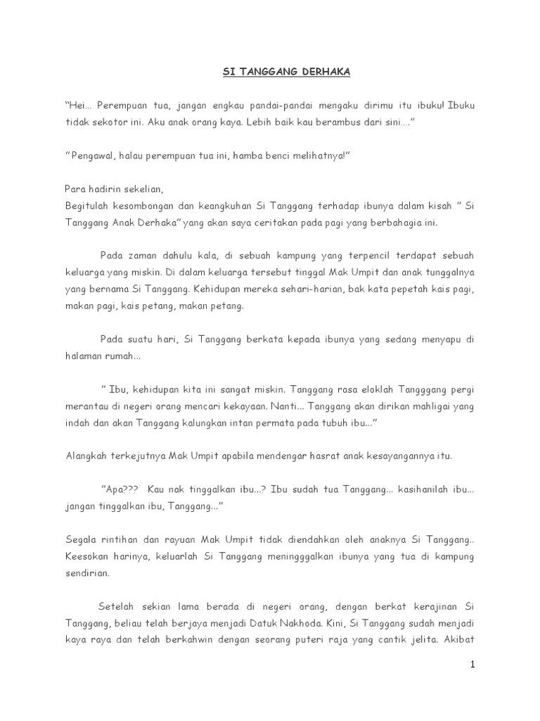 Teks Pertandingan Bercerita Tahap 2