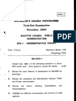 Bachelor's Degbee Prografoe Term-End Examination December.2oo5