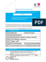 completed start up-england application