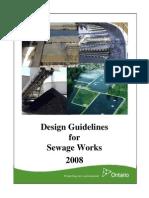 2008 MoE Design Guideline Sewage Works