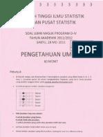 Soal USM STIS 2011-2012 Ilmu Pengetahuan Umum (IPU).pdf
