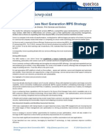 Xerox Progresses Next Generation MPS Strategy