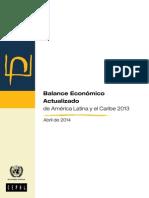 Balance Económico Actualizado de América Latina y el Caribe 2013