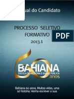 Manual Do Candidato Prosef2013 1 Bahiana 28092012 1
