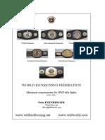 Title Fight Minimum Requirements