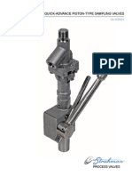 Quick-Advance Piston-Type Sampling Valves
