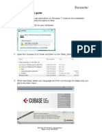 Cubase LE 6 Start Up Guide
