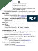 November Activity Sheet