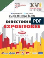Directorio Expositores 2012