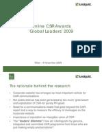 Lundquist CSR Online Awards 2009 James Osborne Presentation. 4 November 2009