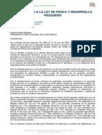 Reglamento a La Ley de Pesca y Desarrollo Pesquero Modificado Feb 2014