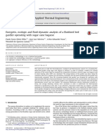 Diniz Filho, Silveira, Tuna, Quieroz Lamas - Energetic, Ecologic and Fluid-dynamic Analysis of a Fluidized Bed Gasifier Operating With Sugar Cane Bagasse