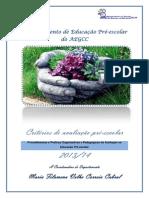 Doc Avaliação Dep PE 2013-14