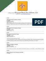 SBL 2009 Program Book (New Orleans, LA)