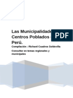 Las Municipalidades de Centros Poblados