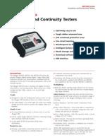 Megger MIT300 Insulationtester Datasheet