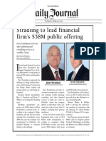 Stradling to Lead Financial Firm's $58M Public Offering