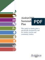 AirdrieONE Sustainability Plan Airdrie, Alberta