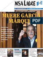 Garcia Marquez-gabo-prensa Libre-edicion Extraordinaria-guatemala-edicion Impresa PREFIL20140417 0001