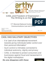 CASL and Freedom of Expression - Final LSUC Conference Slides