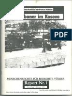 """Gesellschaft für bedrohte Völker """"Die Albaner im Kosovo"""" Shoqata për popujt e rrezikuar """"Shqiptarët në Kosovë"""""""