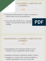 Transporte Al Hombro o Método Del Bombero