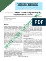 IJIRSM Bhargavi KA Robust Distributed Security Using Stateful CSG Based Distributed Firewall