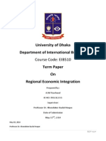 Regional Economic Integration - Term Paper