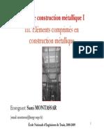 Cours CM 1 Chapitre 3 Eléments Comprimés en Construction Métallique 10 11