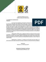 Boletín de Prensa - Marcha 25 Aniversario PRD Nuevo León