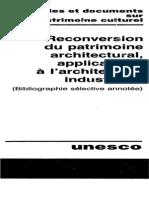 Bibliographie Unesco Reutilisation des Monuments