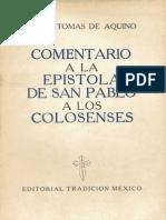 Comentario a La Epístola a Los Colosenses