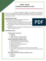 20120604 Temario - Trabajos en Altura