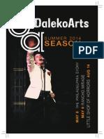 DalekoArts Season 2014 Program