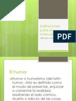 Definiciones Para Un Manual
