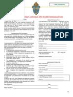YLC 2014 Permission forms.