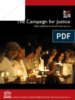 """THE_CAMPAIGN_FOR_JUSTICE-""""the Campaign for Justice"""" Press Freedom in South Asia 2013-14"""