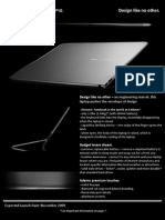 Adamo XPS Spec Sheet