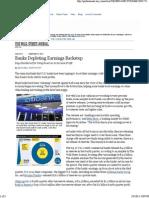 WSJ - 2012-02-03 - Banks Depleting Earni