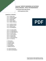 Aspecte Moderne Ale Nutritiei Copilului Sanatos Si Bolnav - Rolul Nutrigenomicii_CNCS-UEFISCDI, Scoala de Studii Avansate_2012