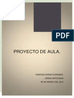 Proyecto de Aula Vanessa Serna Durango