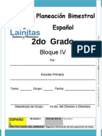 2do Grado - Bloque 4 - Español