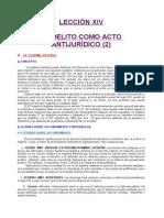 14. Leccion Xiv El Delito Como Acto Antijurídico (2)