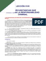 18. Lección Xviii Las Circunstancias Que Modifican La Responsabilidad Criminal