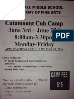catamount camp flyer