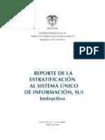Instructivo Del Formato Para Reportar La Estratificación Al Sui