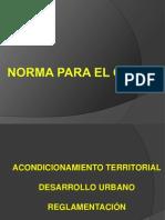 Clase 6. Urbanismo.reglamentos
