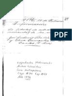 Expediente de información de libertad de estado y cristiandad de José Antonio Baldi Gotta, italiano radicado en Costa Rica (Febrero de 1896)